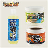 Knotty Boy Dreadlock Tightening Gel, Liquid Soap Shampoo & Dread Wax Dark TRIO