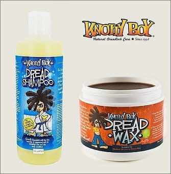 Knotty Boy Dreadlock Wax 4oz. Dark & 8oz. Liquid Dread Shampoo DUO