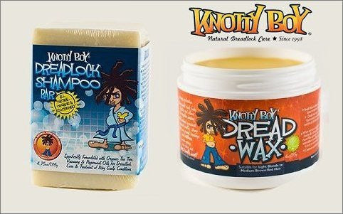 Knotty Boy Dreadlock Wax Light & Dread Shampoo Soap Bar DUO