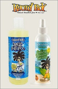 Knotty Boy Peppermint Cooling Moisture Spray & 8oz. Liquid Dread Shampoo DUO