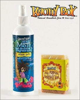 Knotty Boy Satsuma Deodorizer Spray & Citrus Ginger Shampoo Bar DUO