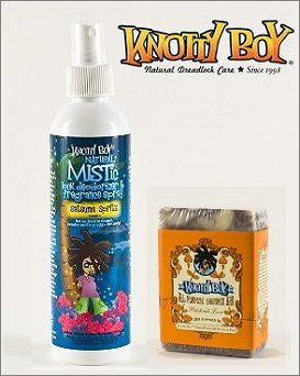 Knotty Boy Satsuma Deodorizer Spray & Patchouli Love Shampoo Bar DUO
