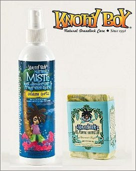 Knotty Boy Satsuma Deodorizer Spray & Spearmint Tingle Shampoo Bar DUO