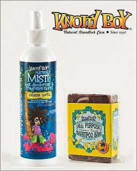 Knotty Boy Satsuma Deodorizer Spray & Tahitian Vanilla Shampoo Bar DUO