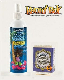 Knotty Boy Satsuma Deodorizer Spray & Unscented Olive Oil Shampoo Bar DUO