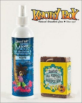 Knotty Boy Waterfall Deodorizer Spray & Tahitian Vanilla Shampoo Bar DUO