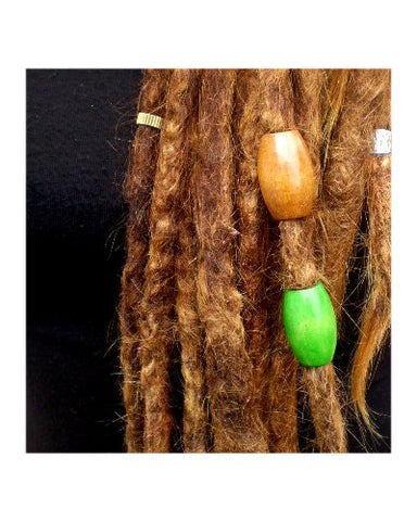 Dreadz Large Wooden Oval Hair Beads (9mm Hole) x 1 Bead