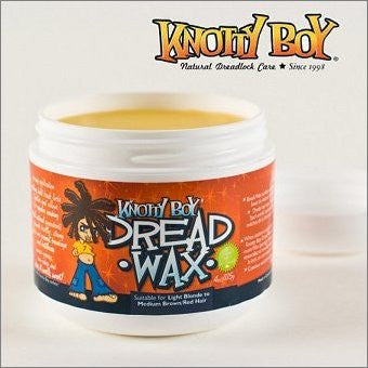 Knotty Boy Dreadlock Wax Medium 4oz. Light Blonde to Medium Brown & Red Hair