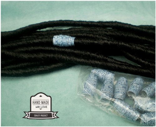 Dreadz Handmade Glazed Recycled Paper Hair Beads (8mm Hole) x 1 Bead (#31)