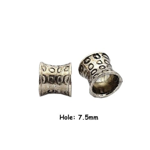 Dreadz Antique Silver Tibetan Style Dreadlock Hair Bead (7.5mm Hole) x 1 Bead