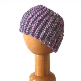 Dreadz Chunky Knitted Head Band / Tube Pink/Purple/Grey
