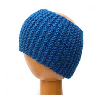 Dreadz Chunky Knitted Dreadlock Head Band / Tube (Blue)