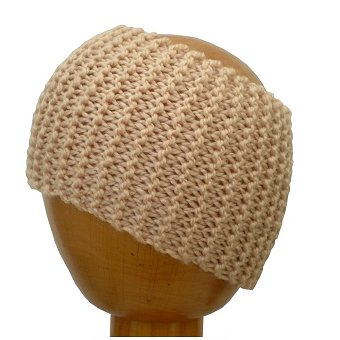 Dreadz Chunky Knitted Dreadlock Head Band / Tube (Cream)