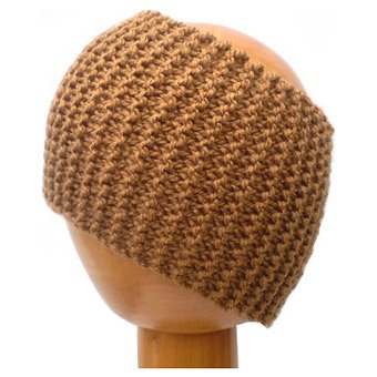 Dreadz Chunky Knitted Dreadlock Head Band / Tube (Golden Brown)