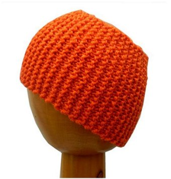 Dreadz Chunky Knitted Dreadlock Head Band / Tube (Orange)