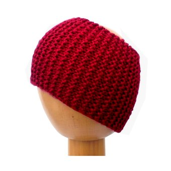 Dreadz Chunky Knitted Dreadlock Head Band / Tube (Red)