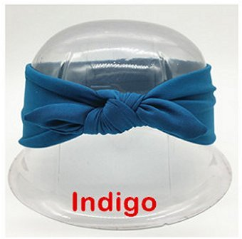 Dreadz Rabbit Ears Knot Head Band Turban Head Wrap (Indigo)