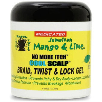 Rasta Locks & Twist Jamaican Mango & Lime No More Itch Cool Scalp Braid, Twist & Lock Gel 6oz. / 170gm