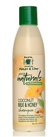 Rasta Locks & Twist Jamaican Mango & Lime Pure Naturals with Smooth Moisture Coconut Milk & Honey Sulfate-Free Shampoo (8oz.)