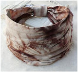 Dreadz Tie Dye Head Band Head Wrap (Browns)