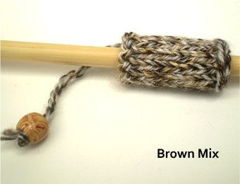 Dreadz Hand-Made Knitted Lock Sleeve x 1 (#05) Brown Mix