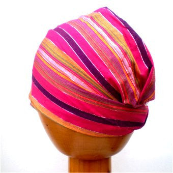 Fair Trade Stretchy Headwrap/Headband (Pink)