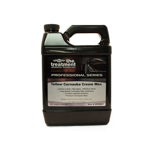 The treatment professional yellow Carnauba wax one Gallon