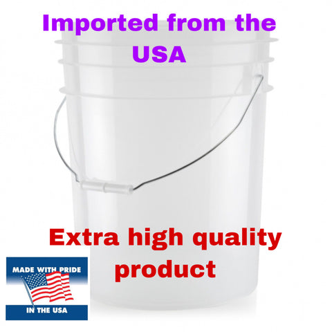 Clear large USA bucket
