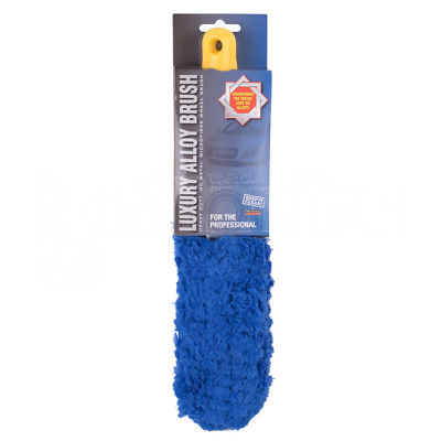 Luxury heavy duty no metal microfibre wheel brush