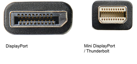 DisplayPort and MiniDisplay Port / Thunderbolt