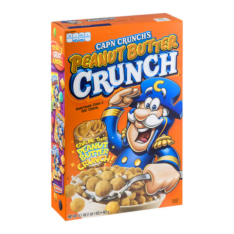 Cap'n Crunch Peanut Butter Cereal (12.4oz) - A Taste of the States