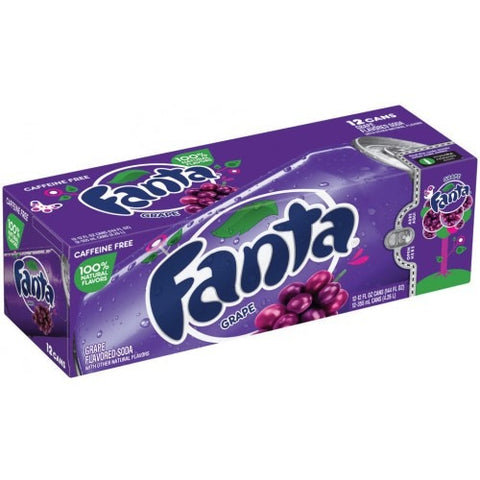Fanta Grape Fridge Pack (12x355ml cans) - A Taste of the States