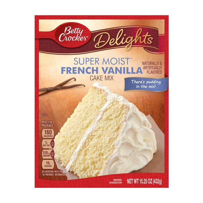 Betty Crocker Super Moist French Vanilla Cake Mix (432g) - A Taste of the States