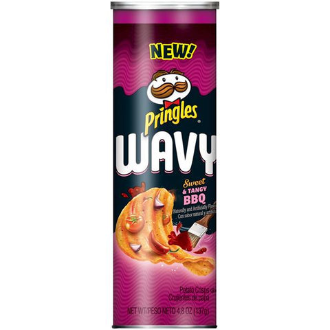 Pringles Wavy: Sweet & Tangy BBQ (4.8oz)