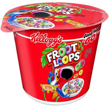 Kellogg's Froot Loops Cereal in a Cup (42g) - A Taste of the States