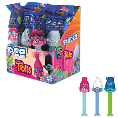 PEZ: Trolls Dispenser (with 2 PEZ packs) - A Taste of the States