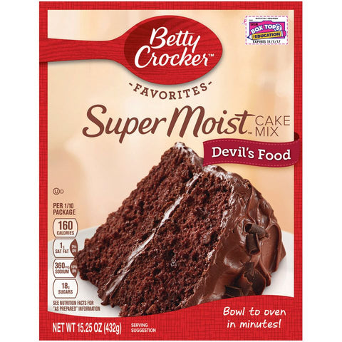 Betty Crocker Super Moist Devil's Food Cake Mix (432g) - A Taste of the States