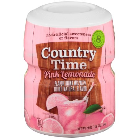 Country Time Pink Lemonade Drink Mix (19oz Tub) - A Taste of the States