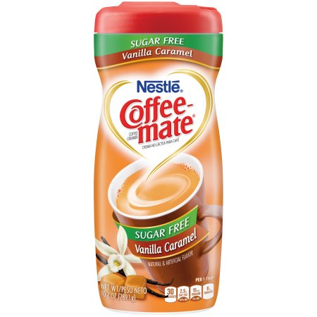 Nestle Coffee-Mate Sugar Free Vanilla Caramel (10.2oz tub) - A Taste of the States