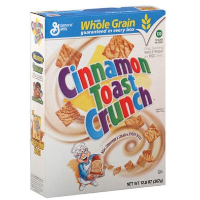 Cinnamon Toast Crunch Cereal (12.2oz) 345g - A Taste of the States