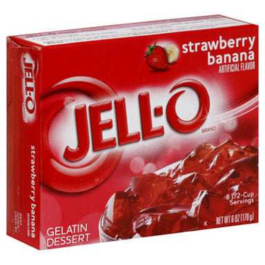 Jell-o Strawberry & Banana 3oz (85g) - A Taste of the States