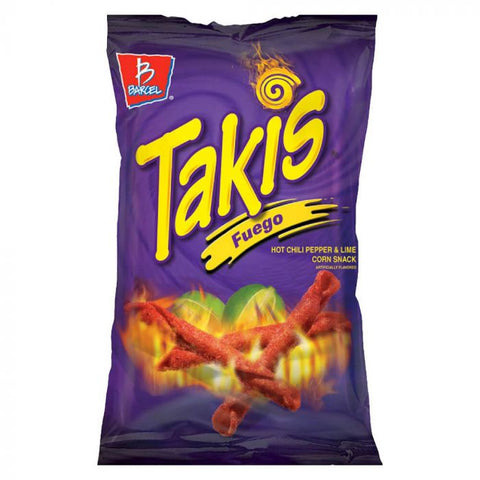 Takis Fuego (Hot Chilli & Lime Corn Snacks) 9.9oz XL Bag