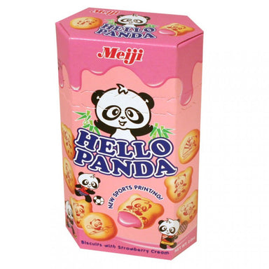 Meiji Strawberry Hello Panda (60g) 2.1oz - A Taste of the States