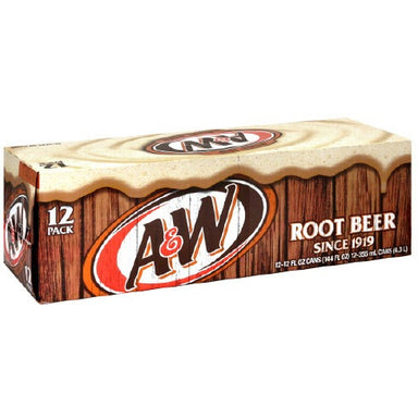 A&W Root Beer Fridge pack (12 x 12oz cans) - A Taste of the States