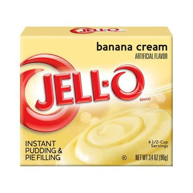 Jell-o Banana Cream Pudding Mix - A Taste of the States
