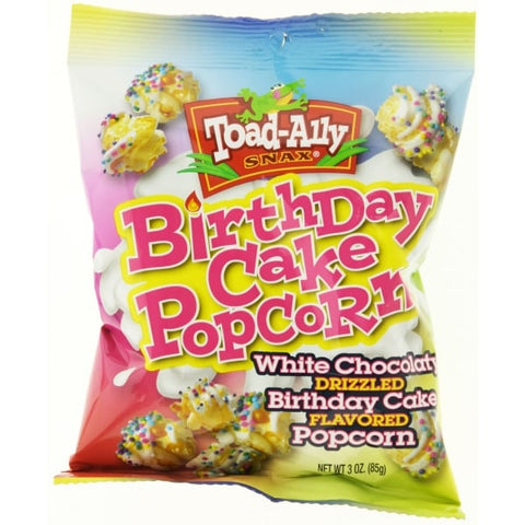 Toad Alley Birthday Cake Popcorn (85g) - A Taste of the States