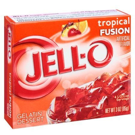 Jell-o Tropical Fusion 3oz (85g) - A Taste of the States