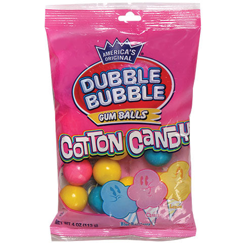 Dubble Bubble Cotton Candy Gumballs (4oz) 113g - A Taste of the States