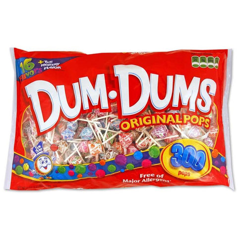 Dum Dums Original Lollipops XL Bag (300pcs) 1.45kg - A Taste of the States