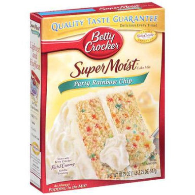 Betty Crocker Super Moist Rainbow Chip Cake Mix (432g) - A Taste of the States